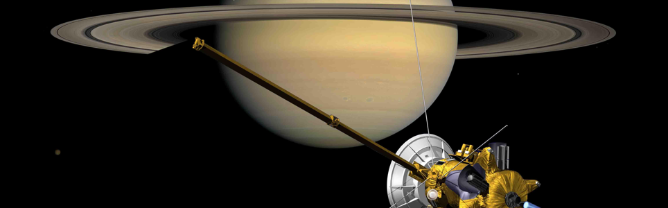 Artist's impression of Cassini-Huygens arriving at Saturn. Credit: NASA