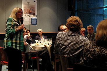 Britta Thomsen MEP hosts Europlanet dinner debate at the European Parliament. Credit: Europlanet