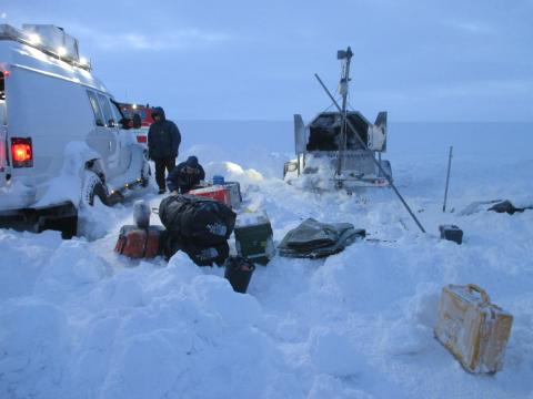 Drilling to sample the Skaftarkatlalon sub-glacial lake.